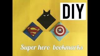 3 Easy DIY Super Hero Corner Book marks | DIY Craft Series | Craftziners # 104