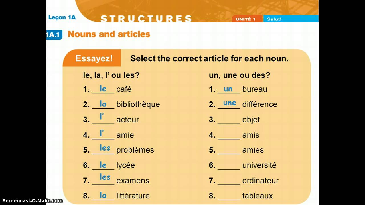 French Indefinite and Partitive Articles + Audio • French ...