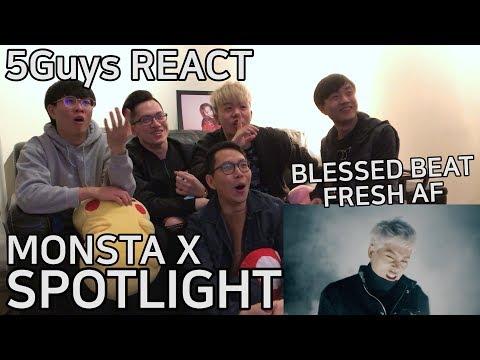[SPICY AF] MONSTA X - SPOTLIGHT (5Guys MV REACT)