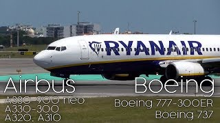 Landings and Take Offs Airbus & Boeing | Plane Music Video