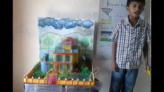 rainwater harvesting working model by amogh thube youtube