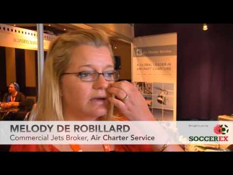 Soccerex Testimonial - Melody De Robillard, Air Charter Service
