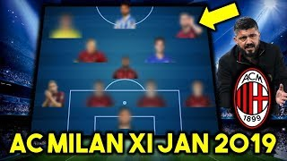 AC Milan Possible Line Up XI January 2019 Ft Fabregas & Other Transfers...