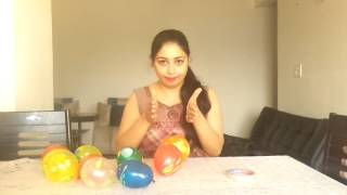One Minute Holi Game For Ladies Kitty Party - Balloon Tower