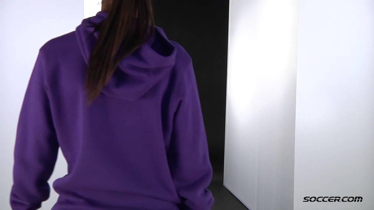 f889e7657331 Nike Women s Team Club Fleece Hoody (Purple) Nike Women s Pro Capri ...