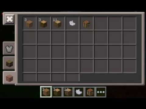 Minecraft Pocket Edition How To Make A Crafting Table Youtube
