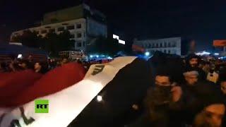 Manifestantes iraquíes celebran asesinato del  general Qassem Soleimani en ataque aéreo de EE.UU.