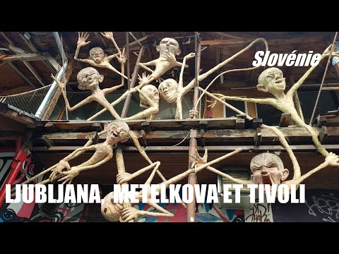 LJUBLJANA Squat Mételkova, la Save, musée d'art et le parc Tivoli