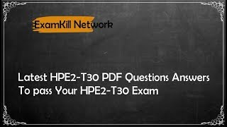 24/7 Customer Support Service of HPE2-T30 Exam Dumps 2018