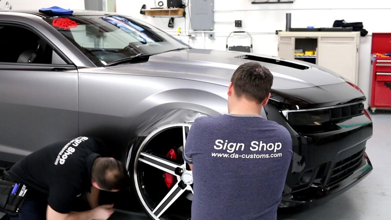 Full Wrap On Chevrolet Camaro Ss In Satin Dark Gray 3m 1080 By D A Customs In Tukwila Seattle