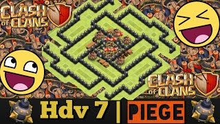 HDV 7 [Village PIÈGE]+RUSH - Speed Build | Clash of Clans