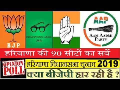 Haryana Assembly (विधानसभा) Elections Exit Poll 2019