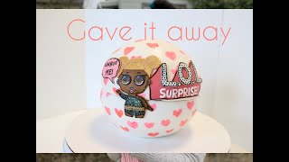 L.O.L. Surprise Themed Cake and giveaway VLOG