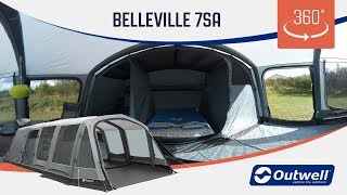 Outwell Belleville 7SA Air Tent - 360 video (2019)