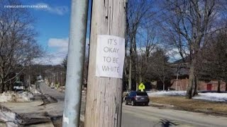 Police in Lewiston investigate racially-charged signs