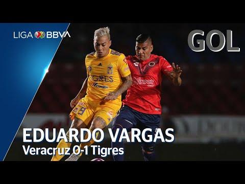 Gol de E. Vargas | Veracruz 0 - 1 Tigres UANL | Liga BBVA MX - Apertura 2019  - Jornada 14