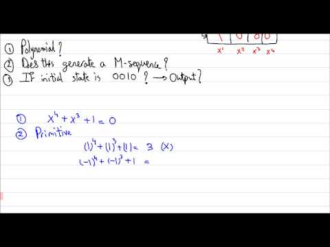 Advanced Communications - Section 6 [Spread Spectrum : PN Sequences]