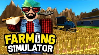 I'VE BEEN A FARMER WE'RE MAKING A FIELD   🌾 ROBLOX Farming Simulator 2019