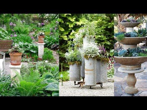 Most Beautiful Spilled Flower Pot | Creative Container Garden Ideas - The Art Of Gardening