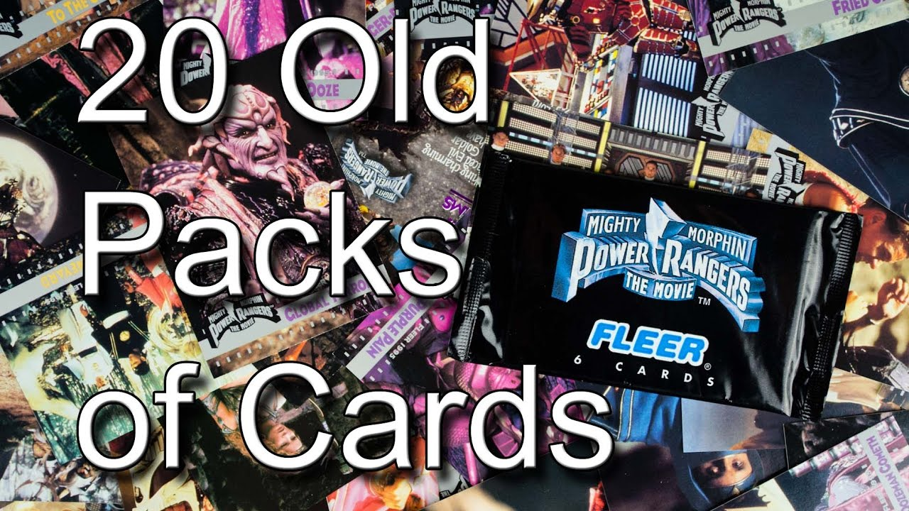 Fleer Mighty Morphin Power Rangers The Movie Trading Cards 20 Pack