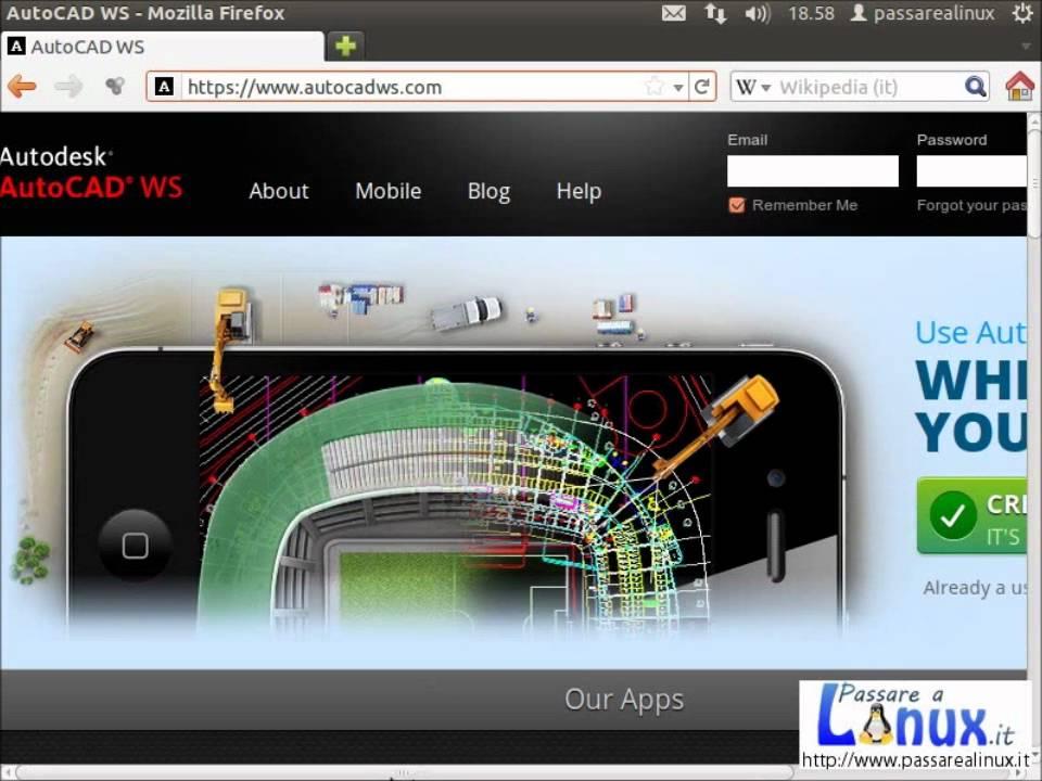 Autocad Gratis Su Ubuntu Linux Iphone Ipad Android Mac