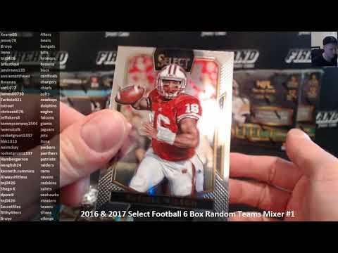 2016 & 2017 Select Football 6 Box Random Teams Mixer #1 ~ 3/19/18