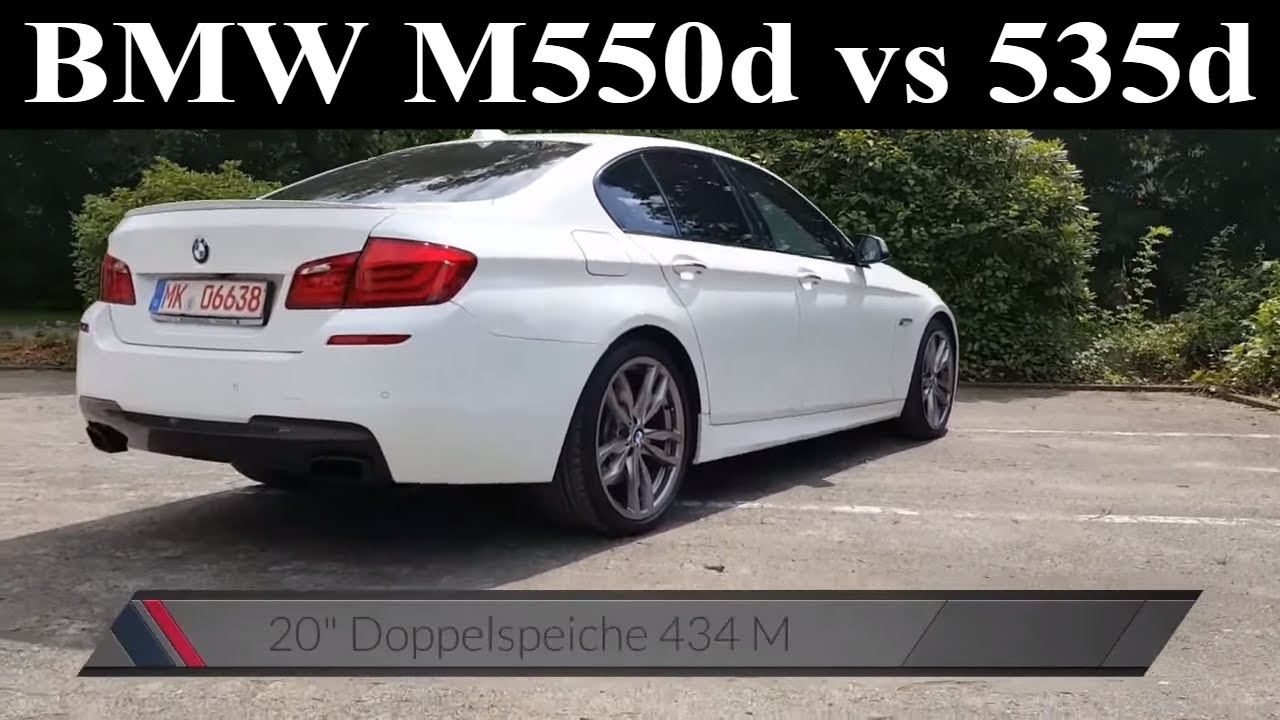 bmw f10 m550d xdrive vs 535d probefahrt test drive review 381 ps acceleration youtube. Black Bedroom Furniture Sets. Home Design Ideas