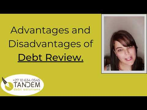 What are the Advantages and Disadvantages of Debt Review!