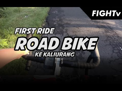 first ride ROAD BIKE ke kaliurang - GOWES JOGJA - FIGHTv