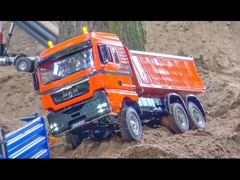 Thumbnail: RC Trucks and construction machines in ACTION! Mercedes-Benz & more!