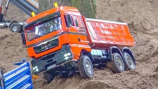 RC Trucks and construction machines in ACTION! Mercedes-Benz & more!