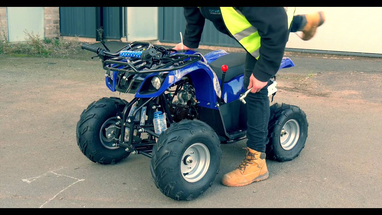 interceptor 125cc 4 stroke quad bike with reverse awesome toys youtube. Black Bedroom Furniture Sets. Home Design Ideas