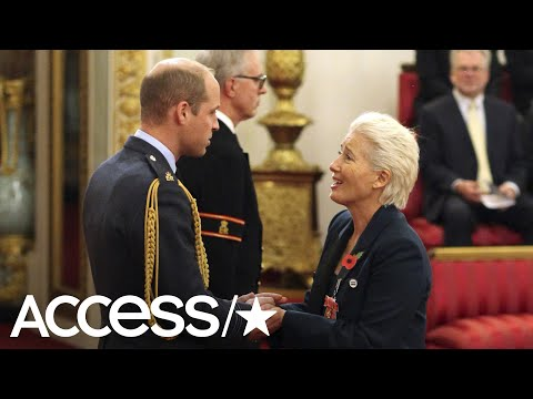 Emma Thompson Is Made A Dame By Prince William | Access