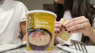 Eating Ramen with My fiance! For The First Time! |ikarinaxd