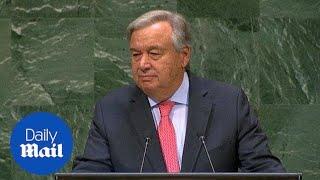 UN secretary general says the world has 'trust deficit disorder'