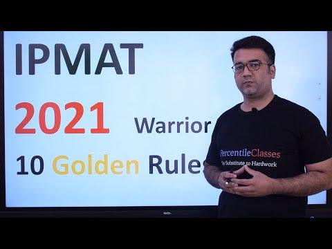 IPMAT 2021 | Golden Rules to follow | How to Crack IPMAT 2021 | IPMAT 2022 | Abhitesh Sir