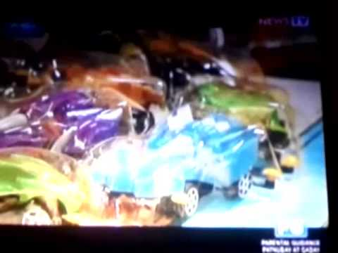 My wife Lace Llanora as guest on tv to review 3 toy stores in Manila