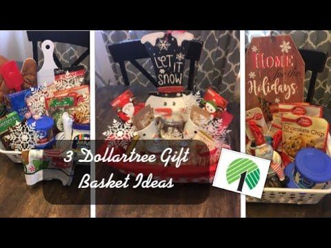 3 Dollartree Christmas Gift Basket Ideas