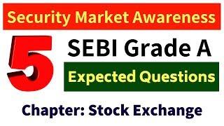 SEBI Grade A - Security Market Important Questions: Day 2