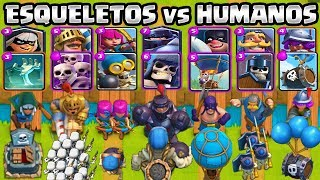 HUMAN VS SKELETONS | WHAT IS THE BEST? | CHALLENGE CLASH ROYALE | 1vs1 | Clash Royale Olympics