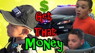 Cops and Robbers - Get that MONEY!!! Police Chase down Sneaky Kids
