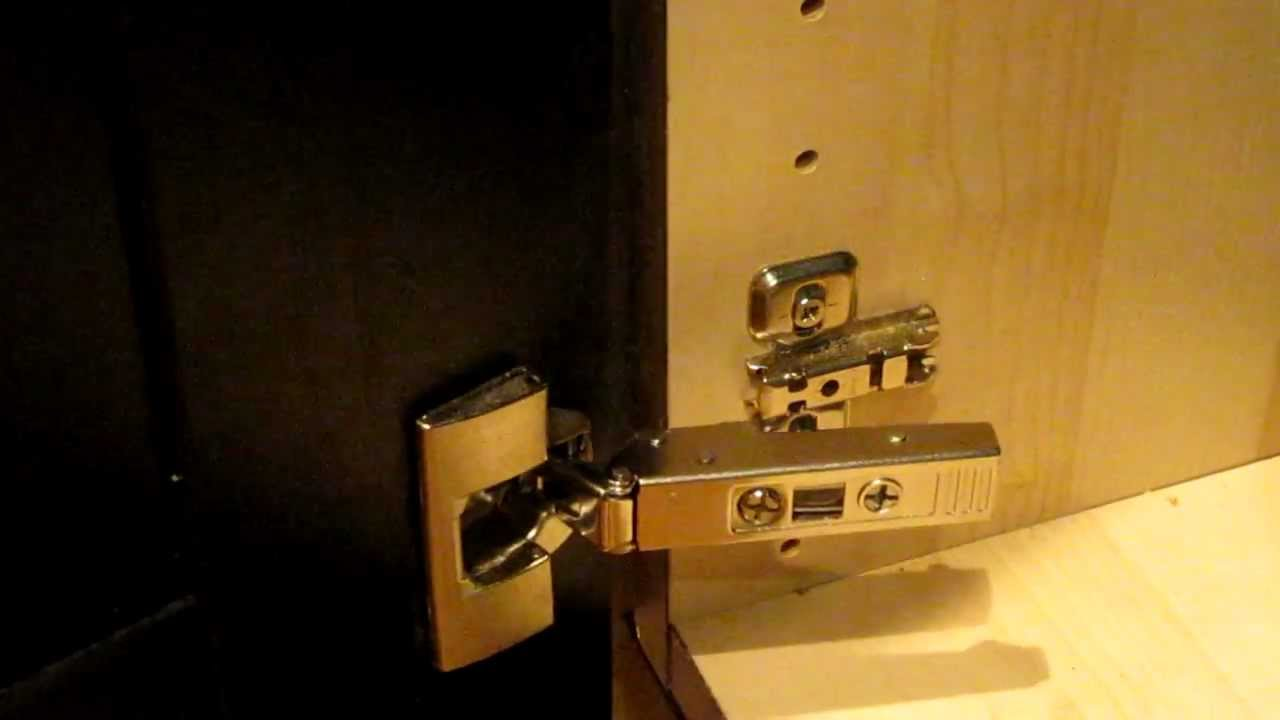 Ikea Integral Kitchen Cabinet Door Hinge How To Clip And Unclip And Install Youtube