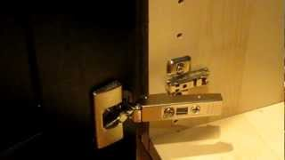 Ikea Integral Kitchen Cabinet Door Hinge, How To Clip And Unclip And Install.