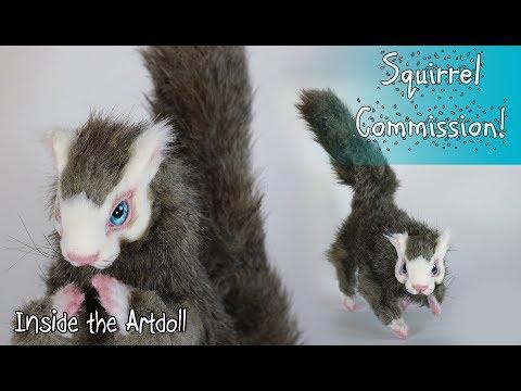 Blue Eyed Squirrel Artdoll Commission