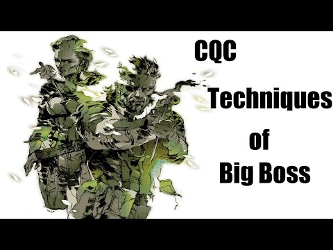 Metal Gear Solid 3 CQC Techniques of Big Boss - Nerd Martial Arts