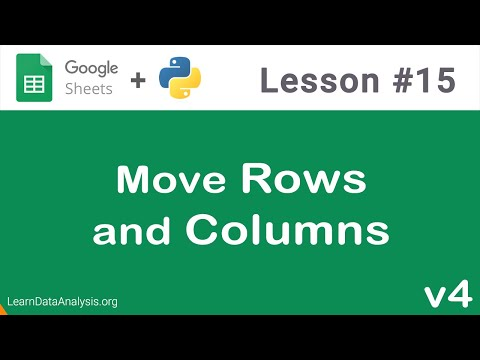 google-sheets-api-in-python-|-move-rows-and-columns