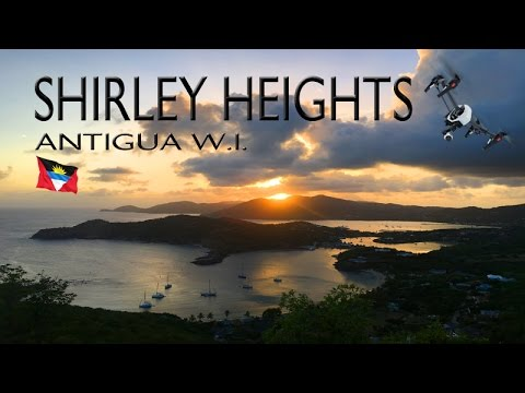 Epic aerial footage of Shirley Heights Antigua ~ Best UAV Drone Caribbean ~ WeBeYachting.com