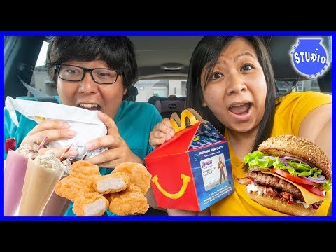 Letting the person in FRONT of me DECIDE what I EAT for 24 HOURS! Food Challenge Scavenger Hunt!