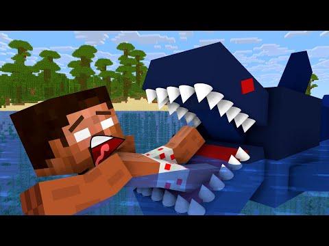 Monster School: Rescue From Shark - Minecraft Animation