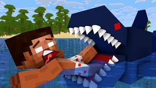 Monster school: Rescue from Shark - Minecraft Animation